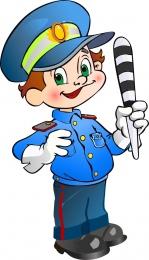 Купить Фигурный двухсторонний элемент для оформления детской площадки Полицейский 460*800 мм в России от 1882.00 ₽