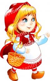 Купить Фигурный двухсторонний элемент Красная шапочка для оформления детской площадки и группы 450х700 в России от 1611.00 ₽