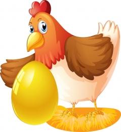 Купить Фигурный элемент односторонний Курочка Ряба с яйцом 230*250 мм в России от 212.00 ₽