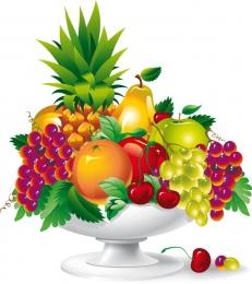 Купить Фигурный элемент Ваза с фруктами 400*450 мм в России от 666.00 ₽