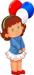 Купить Фигурный односторнний элемент Девочка с шариками 230*500 мм в России от 424.00 ₽