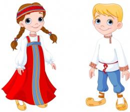 Купить Фигурный односторонний элемент мальчик и девочка в национальных костюмах России в России от 619.00 ₽