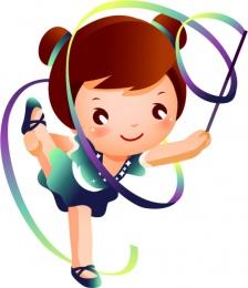 Купить Фигурный односторонний элемент Виды спорта - Художественная гимнастика 430*500мм в России от 793.00 ₽
