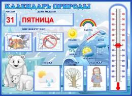 Купить Календарь природы для группы Умка уменьшенный 510*370 мм в России от 986.50 ₽