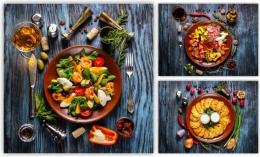 Купить Картина на холсте Аппетитные тарелочки в России от 863.00 ₽
