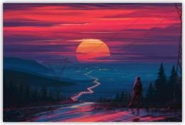 Купить Картина на холсте Закат в России от 350.00 ₽