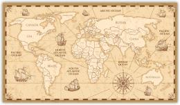 Купить Картина на холсте Карта мира в России от 408.00 ₽