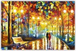 Купить Картина на холсте Осень в городе в России от 350.00 ₽