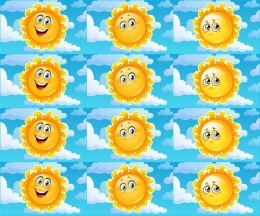 Купить Карточки для стенда Наше настроение в виде солнышка 24 шт 80*50 мм в России от 133.00 ₽