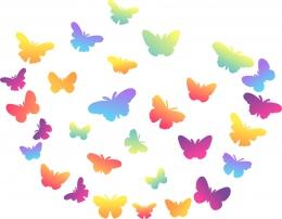 Купить Комплект декоративных элементов Бабочки на тонком пластике в России от 350.00 ₽
