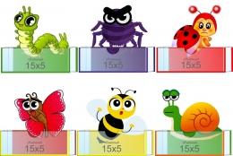 Купить Комплект фигурных мини-стендов Эмоции с насекомыми 150*160мм в России от 747.00 ₽