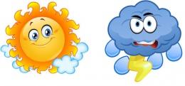 Купить Комплект фигурных элементов Солнышко и Тучка для оформления детской площадки и группы 830*390 мм в России от 1033.00 ₽
