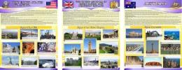Купить Комплект из 3-х стендов Австралия,США, Великобритания для кабинета английского языка в фиолетовых тонах 700*850мм в России от 6372.00 ₽
