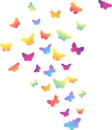 Купить Комплект наклеек Бабочки для интерьера 344х260 мм в России от 134.00 ₽