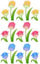 Купить Комплект наклеек Тюльпаны 15 шт 230*110 мм, 130*97 мм в России от 398.00 ₽