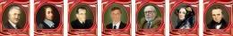 Купить Комплект портретов для кабинета информатики в бордовых тонах 260*330 мм в России от 2144.00 ₽