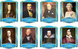 Купить Комплект портретов портретов Знаменитые Британцы в голубых тонах 260*350 мм в России от 2686.00 ₽