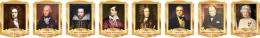 Купить Комплект портретов портретов Знаменитые Британцы в золотистых тонах 260*350 мм в России от 2832.00 ₽