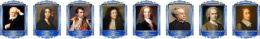 Купить Комплект портретов Знаменитые французкие деятели в золотисто-синих тонах 260*350 мм в России от 2832.00 ₽