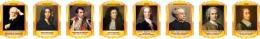 Купить Комплект портретов Знаменитые французские деятели в жёлто-оранжевых тонах 260*350 мм в России от 2694.00 ₽