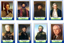 Купить Комплект портретов Знаменитые географы в голубых тонах 200*290 мм в России от 1712.00 ₽