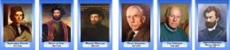 Купить Комплект портретов Знаменитые географы в синих тонах 320*460 мм в России от 3153.00 ₽