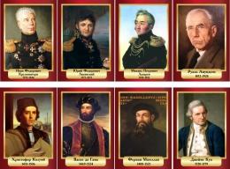 Купить Комплект портретов Знаменитые географы в золотисто-бордовых тонах 200*290 мм в России от 1712.00 ₽