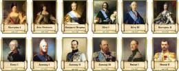 Купить Комплект стендов портретов Русских царей для кабинета истории 12 шт. 240*300 мм в России от 3361.00 ₽