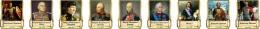 Купить Комплект стендов портретов Великие Русские Полководцы в золотистых тонах  330*400 мм в России от 4384.00 ₽