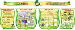 Купить Композиция в кабинет Информатики в золотисто-зеленых тонах 2210*1150мм в России от 11217.00 ₽