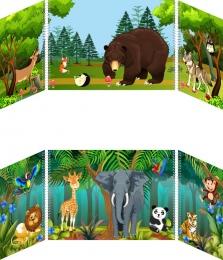 Купить Маркер игрового пространства Животные 870*300 мм в России от 1338.00 ₽
