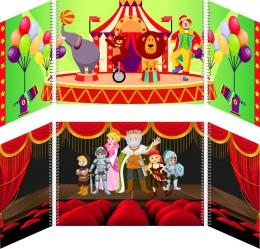Купить Маркер игрового пространства Цирк Театр 870*300 мм в России от 1338.00 ₽