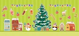 Купить Набор интерьерных наклеек Новый год в России от 1709.00 ₽