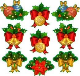 Купить Набор наклеек Новогодние украшения в России от 314.00 ₽