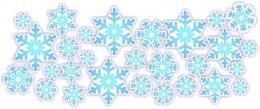 Купить Набор наклеек Снежинки на белом фоне в России от 178.00 ₽