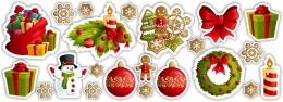 Купить Набор Новогодних наклеек  670*290мм в России от 293.00 ₽