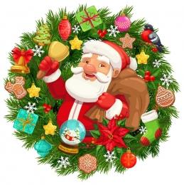 Купить Наклейка новогодняя Дед Мороз 560*560 мм в России от 447.00 ₽