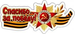 Купить Наклейка Спасибо за победу 500*220 мм в России от 157.00 ₽