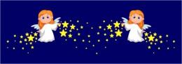 Купить Наклейки Ангелочки со звёздами  610*660 мм  2шт. в России от 1385.00 ₽