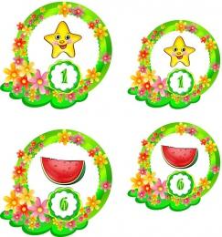 Купить Наклейки для группы Цветочный городок 60шт.,размер 89х112 и 74х71 мм в России от 752.00 ₽