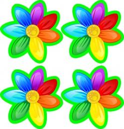 Купить Наклейки для группы Семицветик 60*60 мм 24шт. в России от 176.00 ₽