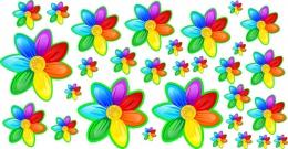 Купить Наклейки для группы Семицветик без нумерации от 40*200 мм 30 шт. в России от 485.00 ₽