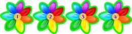 Купить Наклейки для группы Семицветик с нумерацией 40*40мм 24шт. в России от 153.26 ₽