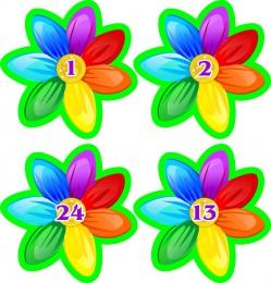 Купить Наклейки для группы Семицветик с нумерацией 66*66мм 24шт. в России от 181.00 ₽