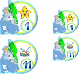 Купить Наклейки для группы Золушка  60 шт. 72*68 мм 50*47 мм в России от 359.00 ₽