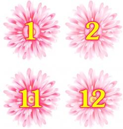 Купить Наклейки Маргаритки с нумерацией 30 шт. 62*62 мм в России от 206.00 ₽
