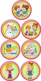 Купить Наклейки на двери в детский сад ,размер 150х150 мм в России от 422.00 ₽