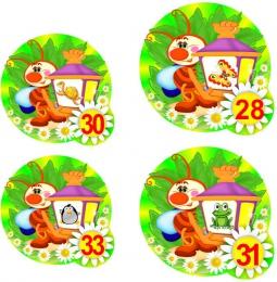 Купить Наклейки на шкафчики группа Светлячки 72 шт. 73*73мм  87*87мм в России от 771.00 ₽