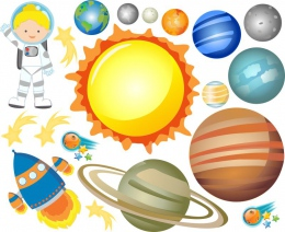 Купить Наклейки на тему Космос для группы Астронавты увеличенные в России от 803.00 ₽