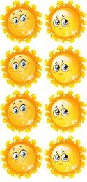 Купить Наклейки Наше настроение в группу Солнышко 8 шт. размер 100*107 мм в России от 199.50 ₽